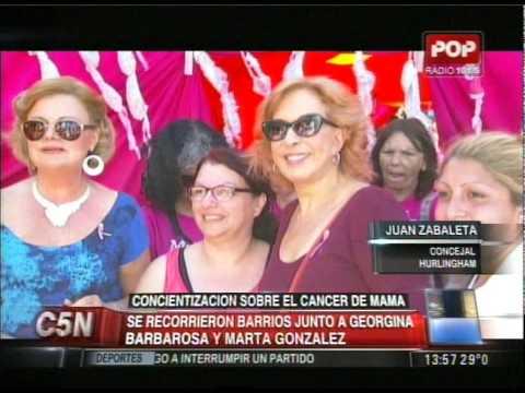 C5N -  SALUD: GEORGINA BARBAROSA Y MARTA GONZALEZ CONCIENTIZARON SOBRE EL CANCER DE MAMA