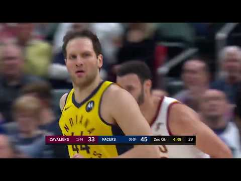 Bojan Bogdanovic Scores 23 Points in a Pacers Win over the Cavaliers   Highlights   February 9, 2019