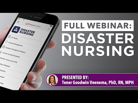Disaster Nursing and Emergency Preparedness Webinar Recording