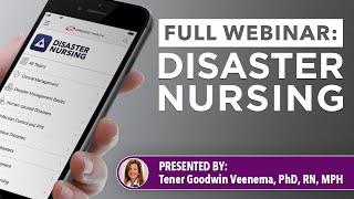 Disaster Nursing and Emergency Preparedness Webinar Recording