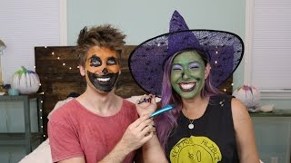 Halloween Face Paint Challenge w/ Joey