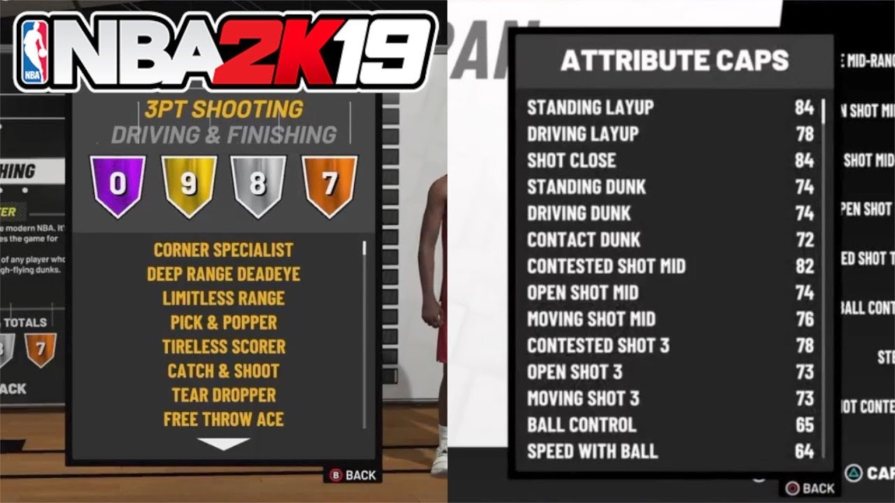All Attributes & Badges For The Slashing Sharpshooter Build At 99 Overall  In NBA 2K19