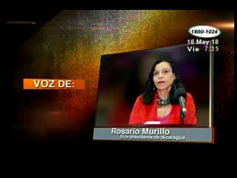 Vicepresidente Rosario Murillo expresó que Nicaragua quiere tranquilidad y paz para trabajar