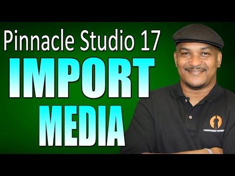 Pinnacle Studio 17 & 18 Ultimate - Importing & Managing Media Tutorial