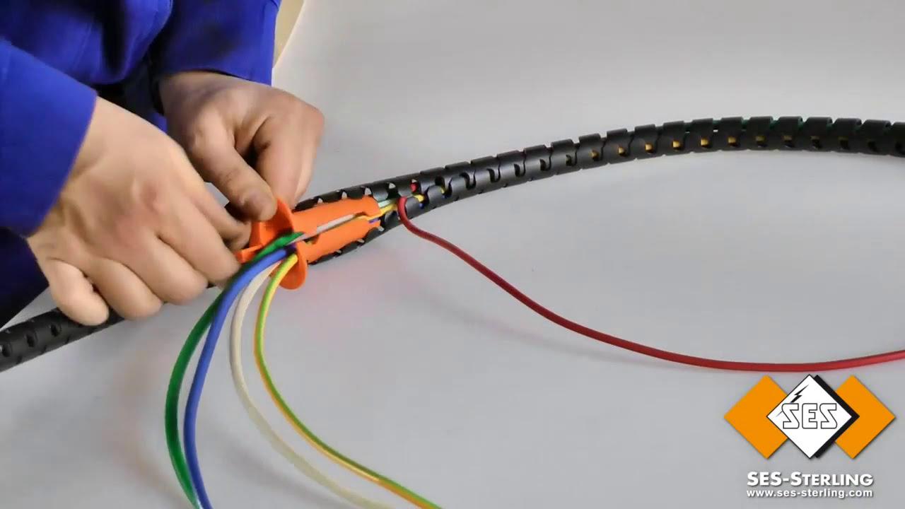 Führen Sie die Kabel durch eine elektrische Leitung - PLIOZIP - SES ...