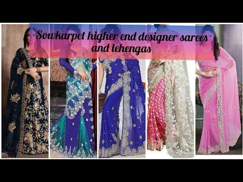 Sowcarpet designer bridal fancy saree and Lehenga/Bridal designer sarees at sowcarpet