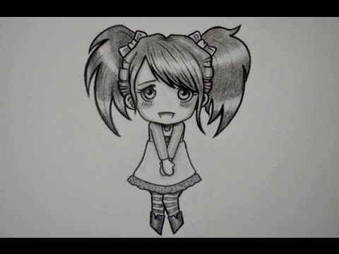 Como Dibujar Una Chica Chibi Youtube