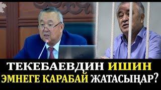 """Нышанов прокурорго: """"Текебаев боюнча ишти неге карабай жатасыар?"""""""