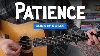 Patience • Easy guitar lesson w/ chords (Guns N' Roses, standard tuning)