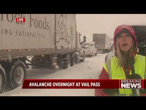 Avalanche closes I-70 between Copper Mountain and Vail; Driver okay after being caught in slide