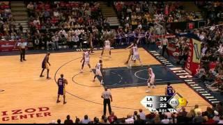 03 27 2009   Lakers vs  Nets   1st Half Highlights