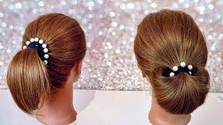 Легкая прическа на короткие волосы Прическа из 1 резинки за 20 секунд