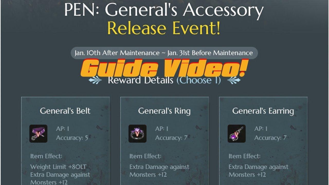 e53ec173859 Black Desert Online - General Accessories Event Guide - YouTube