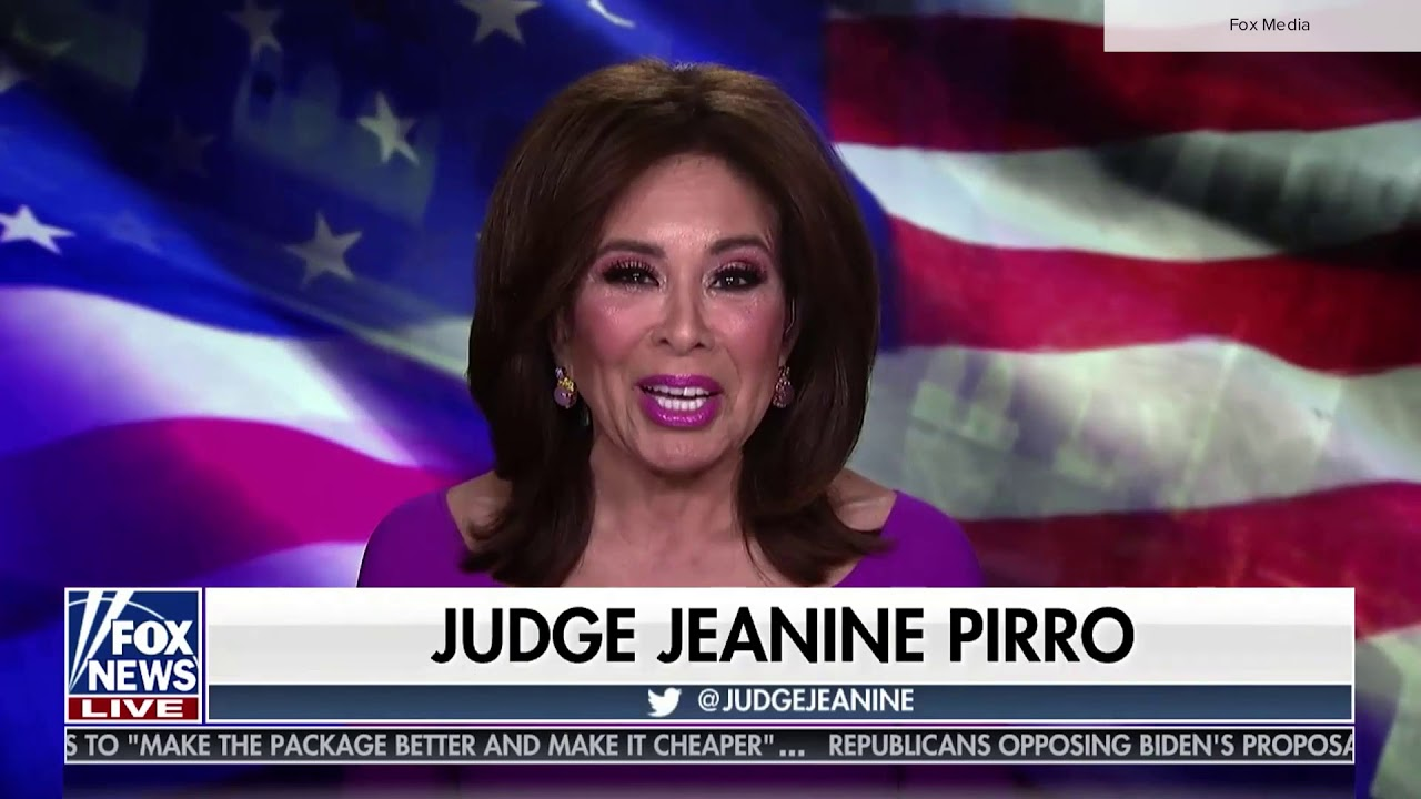 Fox 'Justice with Judge Jeanine' assistant caught on air fixing hair