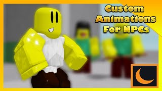How to Add/Script Custom Animation on Models/NPCs in Your Roblox Game | Moon Animator Tutorial
