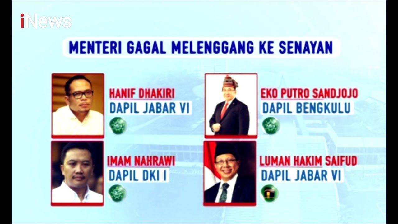Inilah 4 Menteri Kabinet Jokowi yang Gagal Menuju Senayan - iNews Malam 01/10