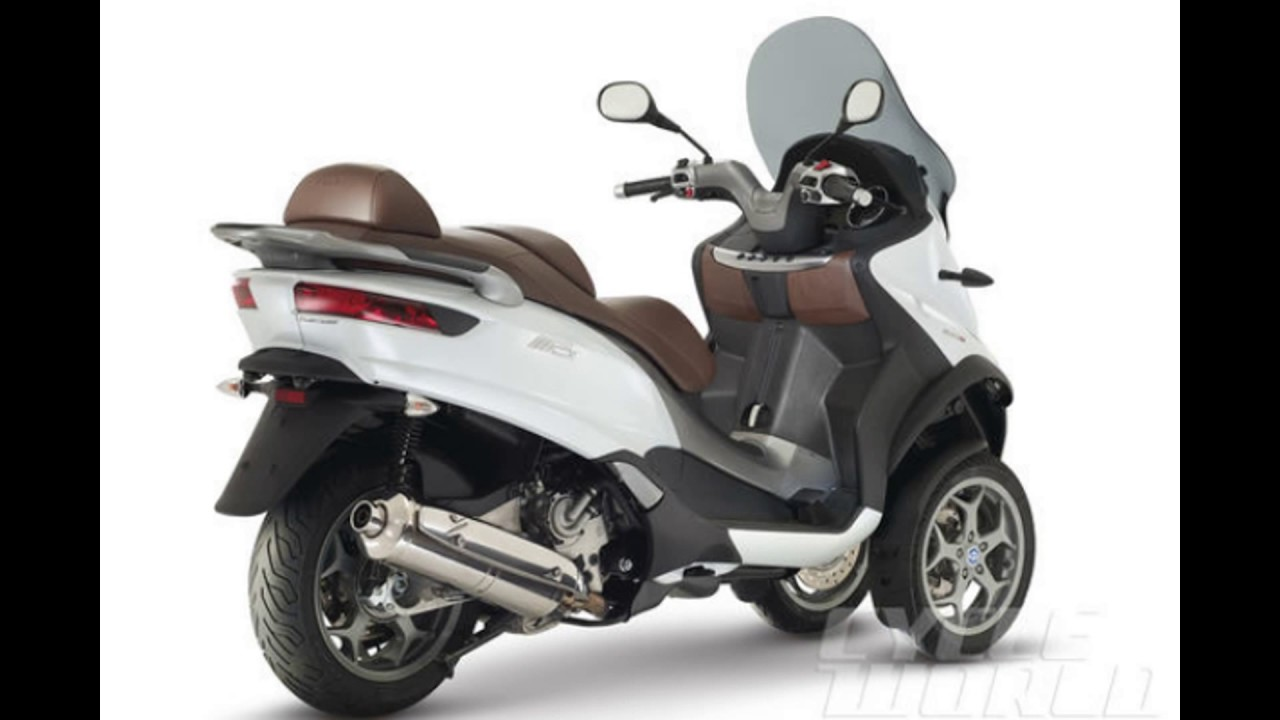 2016 piaggio mp3 500 business abs white - youtube