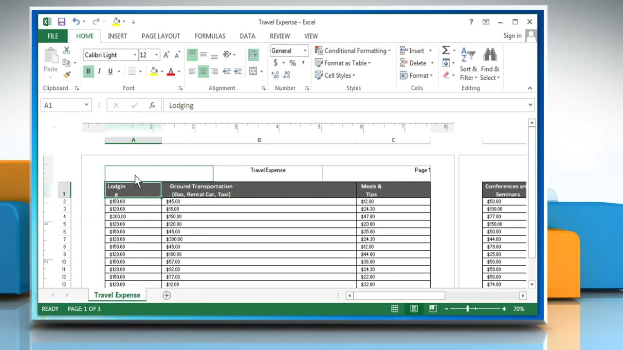 How to insert Header and Footer in Excel : Tutorial