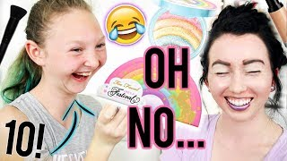 10 YEAR OLD DOES MY MAKEUP!...