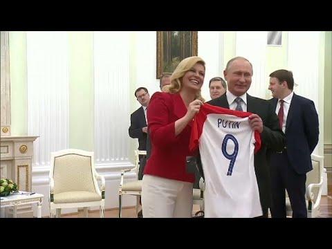 رئيسة كرواتيا تهدي بوتين قميص منتخب بلادها قبيل نهائي كأس العالم…  - نشر قبل 5 ساعة