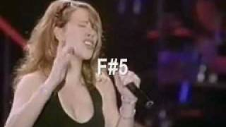 Mariah Carey's Vocal Range - Daydream Tour Concert Tokyo 1996: C#3-Eb7 (4.2 Octaves)