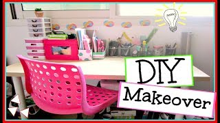 DIY Desk Makeover | Decor and organization!