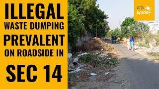 Dwarka: Roadside dumping of waste prevalent at road in Sec 14