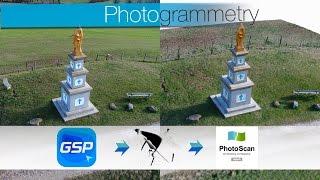 DJI GS PRO - PhotoScan / process complet de photogrammétrie