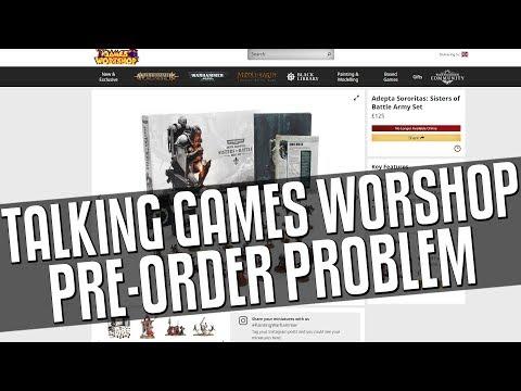 Talking Games Workshop Pre-Order Problem