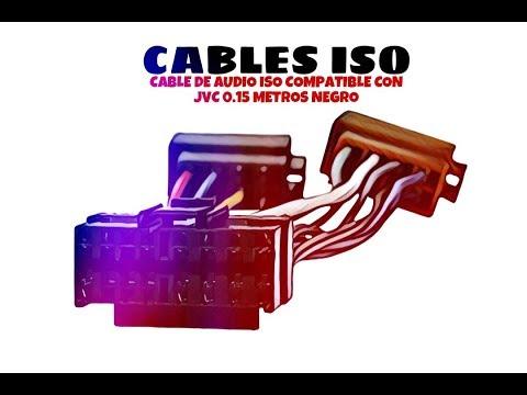 Video de Cable de audio ISO compatible con JVC 0.15 M Negro