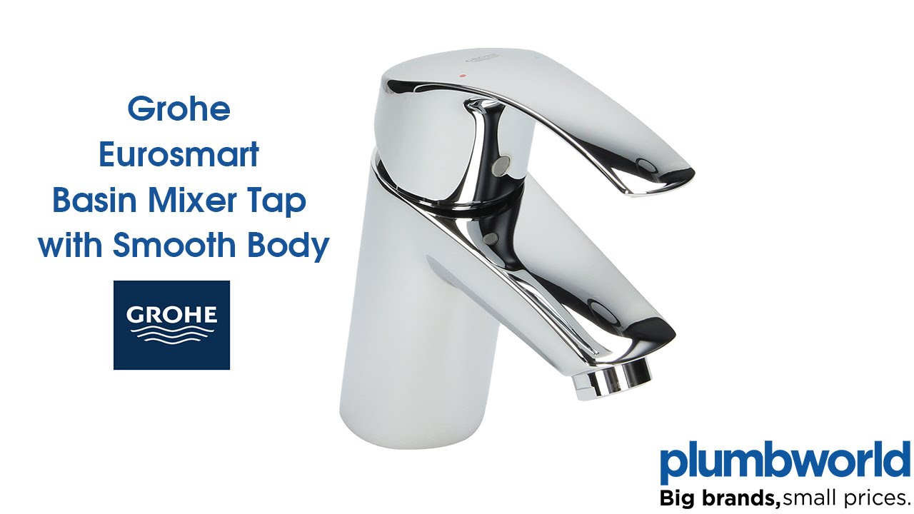 Grohe Eurosmart Basin Mixer Tap with Smooth Body - Plumbworld - YouTube
