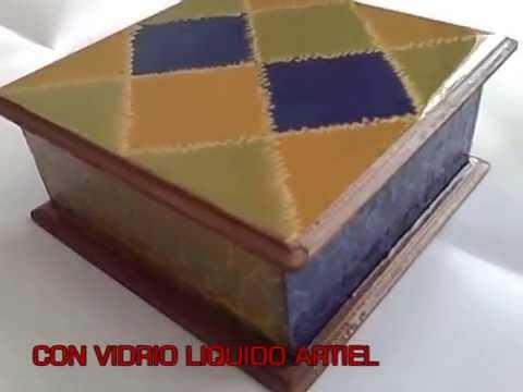 Manualidades pintura en madera caja fantasia youtube - Manualidades en madera cajas ...
