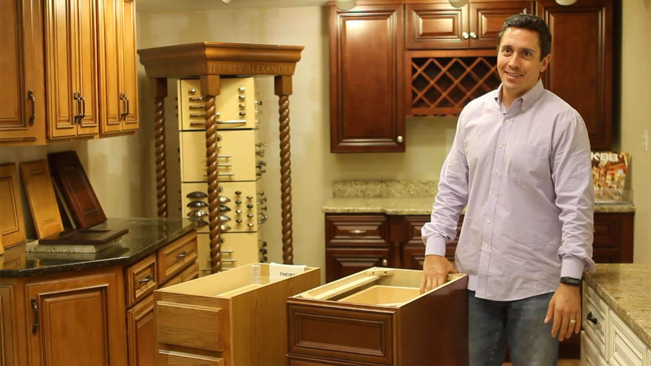 Builder Grade Cabinets Vs. Solid Wood Cabinets   YouTube