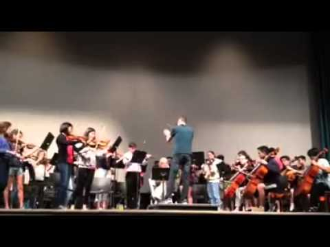 Glendale Youth Orchestra rehearsal, Beethoven's 5th Symphony