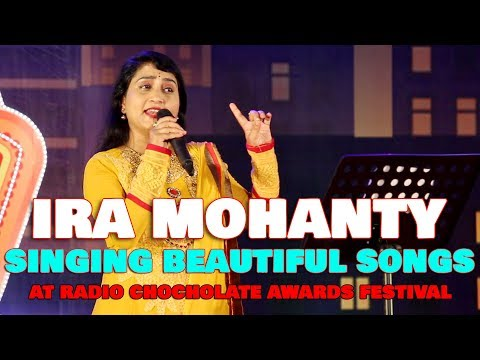 IRA MOHANTY beautiful Odia movie song singing at radio chocolate music awards fare 2017