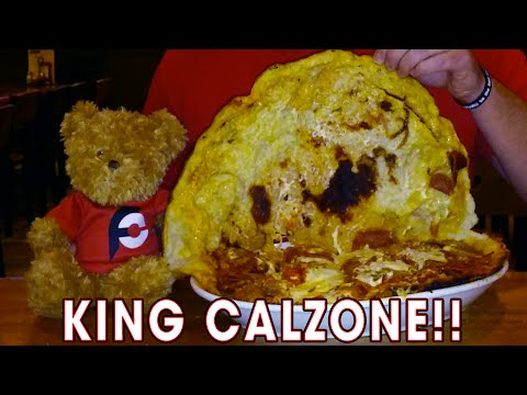 KING CALZONE EATING CHALLENGE IN MAINE!!