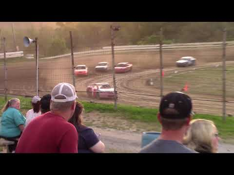 Hummingbird Speedway (6-8-19): Lockwood Processing Four-Cylinder Heat Race #2