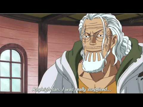 One Piece Rayleigh tells Luffy about Shanks