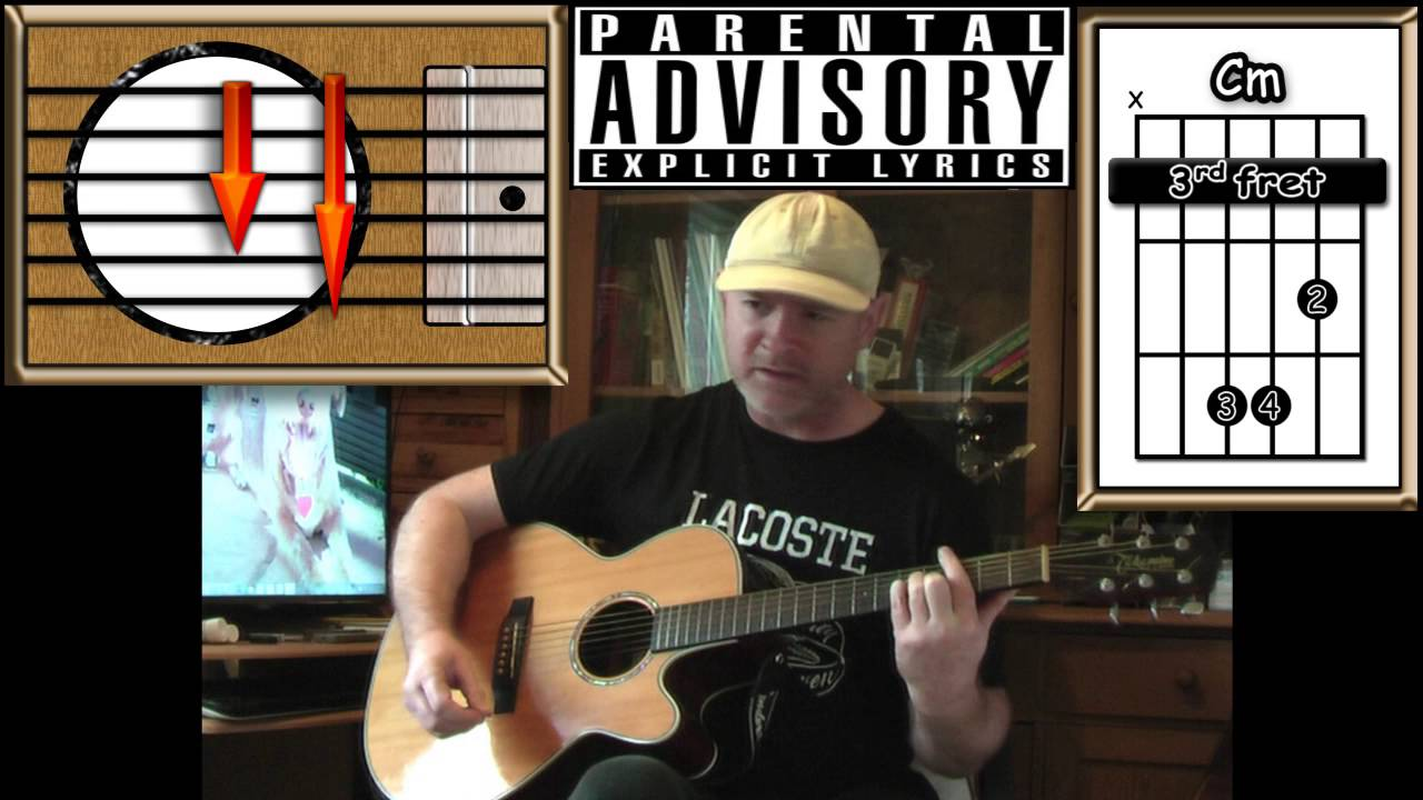 Creep Radiohead Acoustic Guitar Lesson Explicit Lyrics Youtube