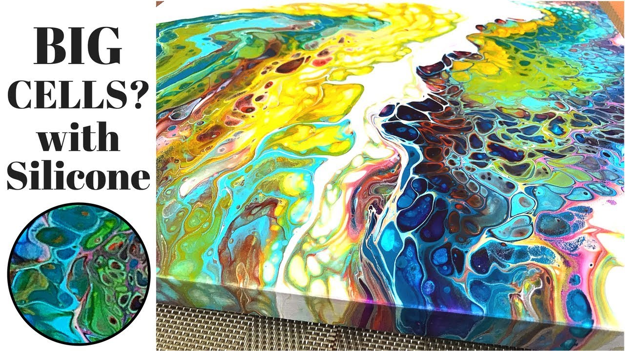 Big Cells Fluid Painting Acrylic Pouring With Floetrol And