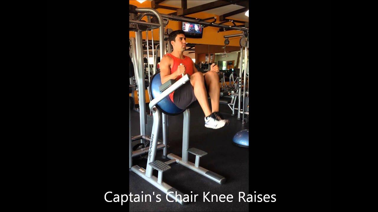Captains Chair Knee Raises Youtube
