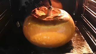 Фаршированная тыква с мясом и картошкой в духовке