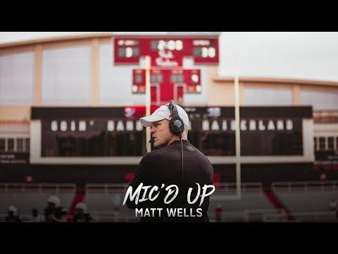 Texas Tech Football: Mic'd Up - Coach Wells | 2019