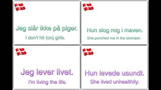 Learn Danish:   100 essential verbs with examples!