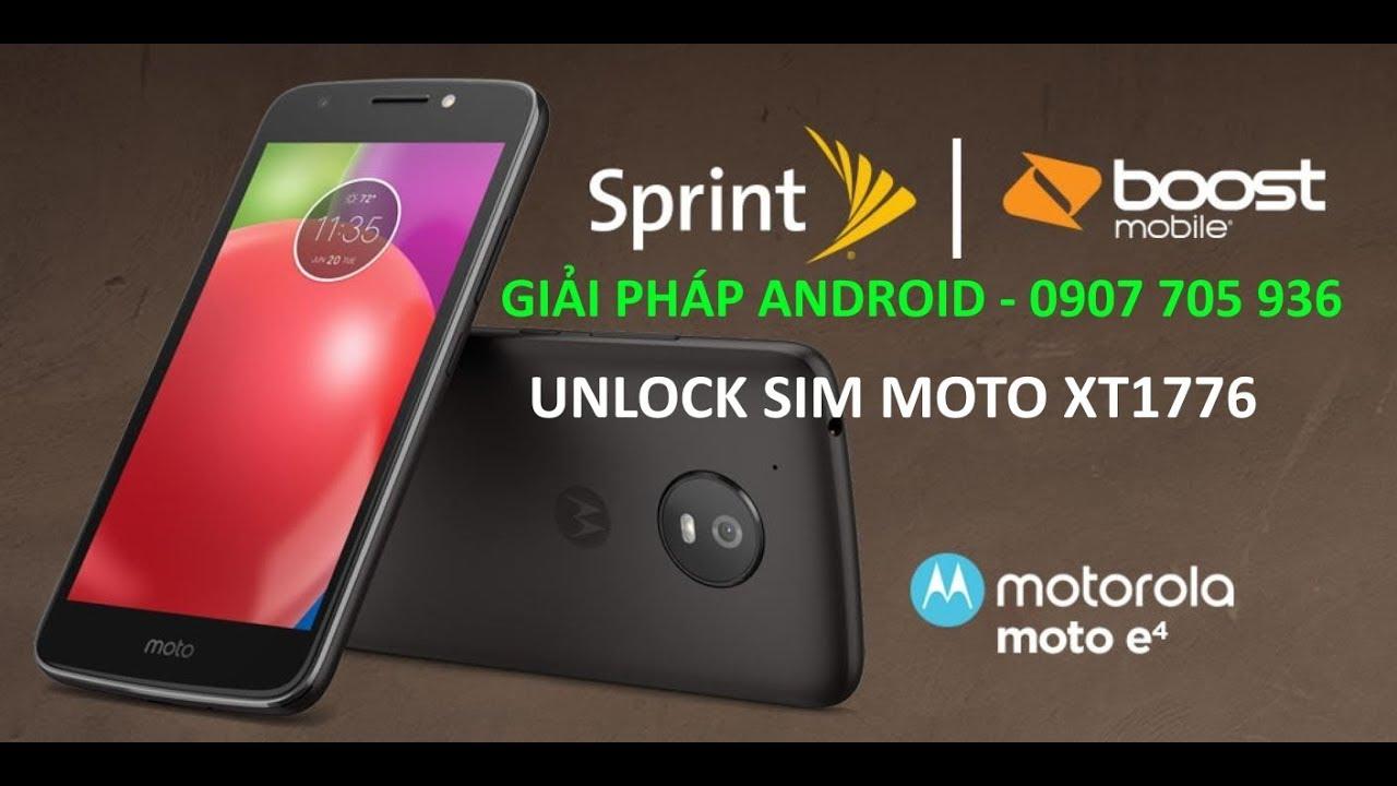 unlock sim network Moto E4 Sprint XT1766 android 7 1 1 Nougat success with  GCProkey