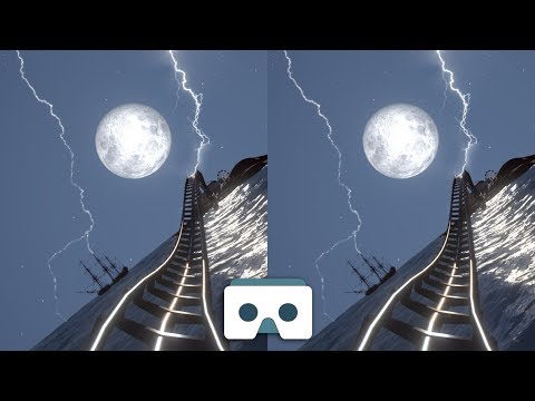 Scary VR Roller Coaster: Virtual Reality 3D Video for Samsung Gear VR Box Oculus Rift & Cardboard