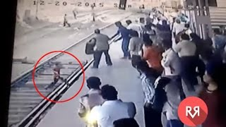 child saved from crushing under local train in ambernath