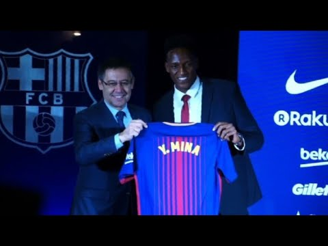 Barcelona unveil new signing Colombian defender Yerry Mina