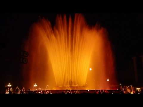 Magic Fountain of Montjuïc, Barcelona, Spain.