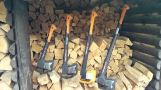 Which Fiskars axe to use for splitting logs of different sizes and ...